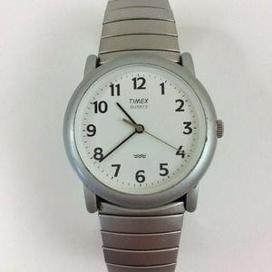 Timex Men's Watch Silver Tone Stretch Band